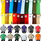 PACK OF 3 PRO CLUB MEN'S BLANK HEAVYWEIGHT SHORT SLEEVE CREWNECK T-SHIRTS S-10XL image