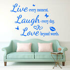 Live Laugh Love Wall Quote Butterfly Stickers Home Art Decal Vinyl Removable 251