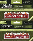 NEW Die'sire - CHRISTMAS ONLY WORDS EDGE'ABLES - Cutting Dies CRAFTERS COMPANION