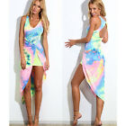 Pop  Lady Summer Sleeveless Party Evening Cocktail Maxi Dress Beachwear  HFCA