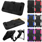 3IN1 RUGGED HYBRID HARD CASE BELT CLIP HOLSTER COVER FOR BOOST ZTE MAX+ N9521