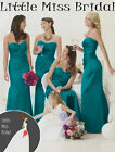 Teal Turquoise Bridesmaid Dress Dresses Evening Ball Party Prom Formal Wedding