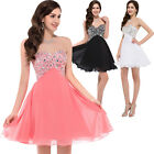 Women Short Beaded Homecoming Bridesmaid Evening Cocktail Party Gowns Dress PLUS