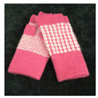 New Winter Women Girl Outdoor Warm Half  Finger Knit Gloves