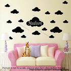 Set of 30 x Cloud Wall Stickers Personalized Name Wall Decal Nursery Room vinyl