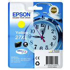 GENUINE EPSON 27XL ALARM CLOCK HIGH CAPACITY YELLOW INK CARTRIDGE (C13T27144010)