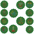In-The-Hoop COASTERS * CHRISTMAS 2 * Machine Embroidery Patterns * 12x2 sizes