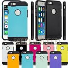 for apple iphone 6s case cover 2 layer black white hot pink blue green 6 s