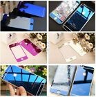 Mirror Tempered Glass Front + Back Screen Protector Colorful For Cell Phone