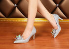 Women's Shoes Fashion Cinderella's diamond Wedding Shiny Banquet Crystal shoes
