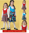 SEWING PATTERN! MAKE GIRLS JUMPER! SCHOOL~CHURCH CLOTHES! SIZE 2-5/6-8