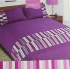 Purple King Duvet Cover Set Bedding 2 Pillowcases Washable