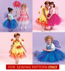 RETIRED SEWING PATTERN! MAKE FLOWER FAIRY COSTUMES! GIRL RESS UP! SIZES 1-2-3