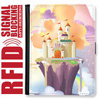 CASTLE GENUINE LEATHER RFID ANTI THEFT PASSPORT WALLET ORGANIZER COVER HOLDER