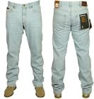 MENS NEW FARAH JEANS LIGHT ICE WASH RIGID DENIM STRAIGHT CUT 30 TO 44 RRP £39.99