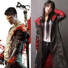 Hot sell! Devil May Cry 5 DMC Dante Pleather Coat Jacket Cosplay Costume(XS-4XL)
