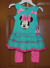 Disney Minnie Mouse  Girls  2pc  Outfit Sizes 5, 6 and 6X NWT