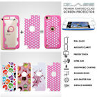 iPod Touch 5th 6th Gen Hybrid Case Shockproof Hard Glass Screen Protector Cover