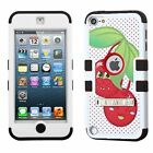 iPod Touch 5th 6th 5 6 Cute Hybrid Case Shockproof Glass Screen Protector Cover