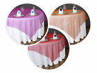 "10 pc 90x90"" Sheer ORGANZA Overlays Wedding Party Table Decorations - 25 colors!"