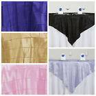 """6 pcs 72x72"""" Square Pintuck TABLE OVERLAYS Wedding Linens Tablecloths Wholesale"""