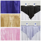 "6 pcs 72x72"" Square Pintuck TABLE OVERLAYS Wedding Linens Tablecloths Wholesale"