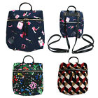 Korea Fashion MINI Backpack Cross Tote Bag School Travel Polyester Faux Leather