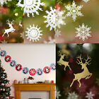 Christmas Party / Home Hanging Decorations, Bunting, Snowflake, Reindeer etc