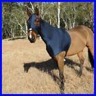 LOVE MY HORSE Lycra Skinny Hood Show Clean Mane Plait Protection Blue