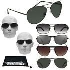 Mens Big  Tall Sunglasses Extra Large XL Wide Fit Metal Frame Big Head Glasses