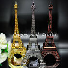 "10"" Eiffel Tower Statue Sculpture Paris Decor Metal Wedding Supplies Ornament"