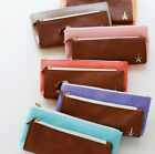 E2 Synthetic Leather Double Pocket Pencil Case
