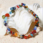 Chic Women Lampwork Glass Beads Stretch Elastic Bracelet Party Christmas Jewelry