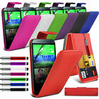 6 Colours Leather Flip Mobile Phone Case Cover For HTC One M8/M8s
