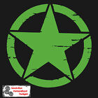 """Army Jeep WILLYS Distressed Star Vinyl Decal Car Sticker 10"""" , 12"""" or 20"""" Size"""