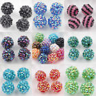 10PCS Czech Acrylic Crystal Rhinestones Pave Clay Round Disco Ball Spacer Beads