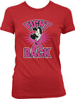 Fight Back Boxer Breast Cancer Awarness Pink Ribbon Juniors Girls T-shirt