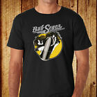Bob Seger and The Silver Bullet Band Music Legend Men's Black T-Shirt Size S-3XL