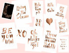 Copper Foil Words- A4 Print/ Poster/ Artwork- Choose Words- 15 Prints Available