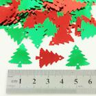 15g RED or GREEN CHRISTMAS TREE & HOLLY LEAF SHAPED SEQUIN EMBELLISHMENTS CRAFTS
