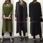 Vintage Women Lady Casual Loose Long Sleeve Boho Maxi Shirt Dress T-shirt 6QW2