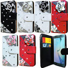 3D Bling Diamond Leather Wallet Flip Case Cover For Samsung Galaxy S6 & S6 Edge
