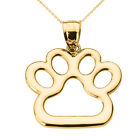 Claddagh Gold New Fine 14k Yellow Gold Dog Paw Print Pend...