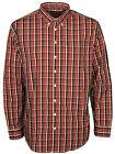 MENS BRANDED FARAH FFFW0111 RED CHILLI LONG SLEEVE CASUAL SHIRT XL TO XXL