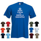 'Keep Calm and Drive a Daihatsu' Funny Charade Terios Copen Fourtrak t-shirt Tee