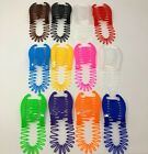 NEW VINTAGE LARGE COMB BANANA CLIP HAIR RISER CLAW LOT