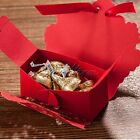 100x Rose Flower Candy Box Gift Box for Wedding Party Decor With Ribbon 3 Color