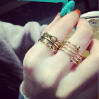 3PCS/Set Fashion New Jewelry Gold Silver Women Party Knuckle Ring Midi Ring