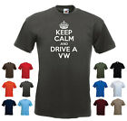 'Keep Calm and Drive a VW' Funny Mens Car Camper t-shirt