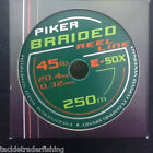 DRENNAN E SOX PIKER BRAIDED REEL LINE - In 125m OR 250m - FREE UK P & P